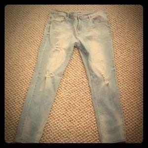 Distressed light denim skinny jean's plus US 14